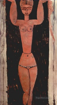 standing caryatid 1913 Amedeo Modigliani Oil Paintings