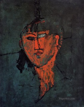Amedeo Modigliani Painting - a head 1915 Amedeo Modigliani