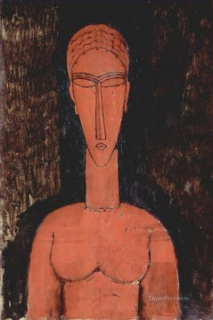 a red bust 1913 Amedeo Modigliani Oil Paintings