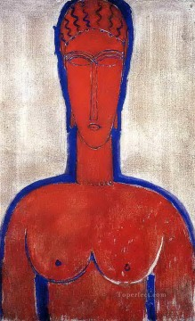 big red buste leopold ii 1913 Amedeo Modigliani Oil Paintings