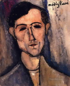 man s head portrait of a poet Amedeo Modigliani Oil Paintings
