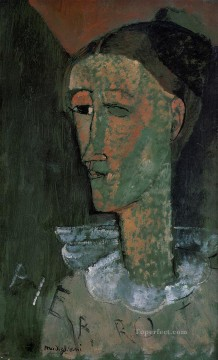 pierrot self portrait as pierrot 1915 Amedeo Modigliani Oil Paintings
