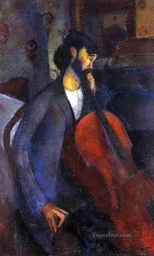 the cellist 1909 Amedeo Modigliani Oil Paintings