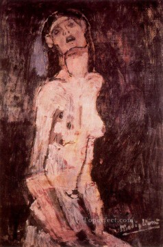 a suffering nude Amedeo Modigliani Oil Paintings