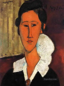 anna hanka zborowska 1917 Amedeo Modigliani Oil Paintings