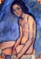 seated nude 1909 Amedeo Modigliani