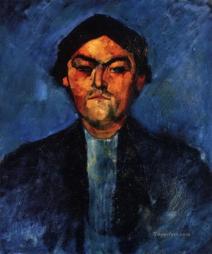 Amedeo Modigliani Painting - the typographer pedro Amedeo Modigliani