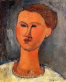 woman s head 1915 Amedeo Modigliani