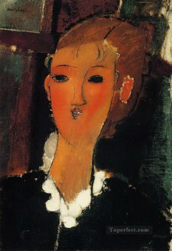 Amedeo Modigliani Painting - young woman in a small ruff 1915 Amedeo Modigliani