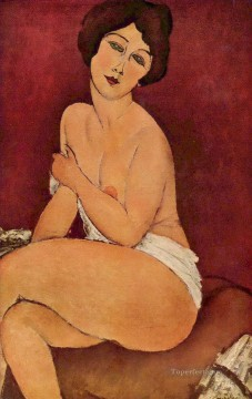 Nude Sitting on a Divan Amedeo Modigliani Oil Paintings