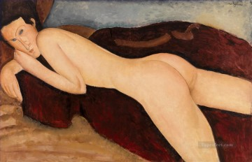 Reclining nude  from the Back Amedeo Modigliani Oil Paintings