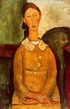 a girl in yellow dress 1917 Amedeo Modigliani Oil Paintings