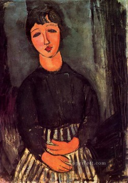 Amedeo Oil Painting - a young girl 1916 Amedeo Modigliani