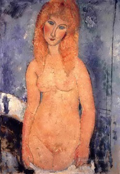 blonde nude 1917 Amedeo Modigliani Oil Paintings