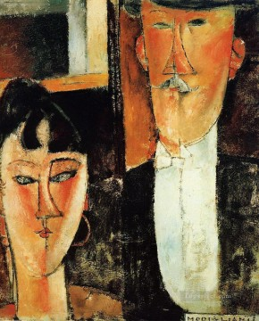 modigliani - bride and groom the couple Amedeo Modigliani