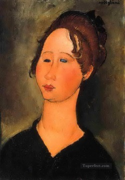 1918 Painting - burgundian woman 1918 Amedeo Modigliani