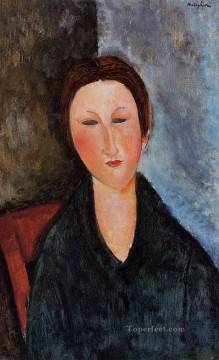 Amedeo Modigliani Painting - bust of a young woman mademoiselle marthe Amedeo Modigliani