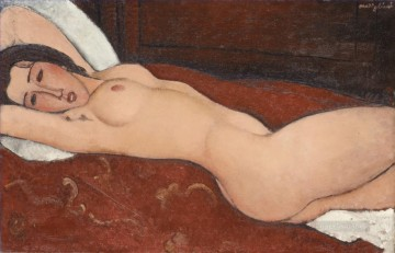 1917 Canvas - eclining Nude 1917 Amedeo Modigliani