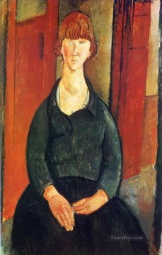 Amedeo Oil Painting - flower vendor 1919 Amedeo Modigliani