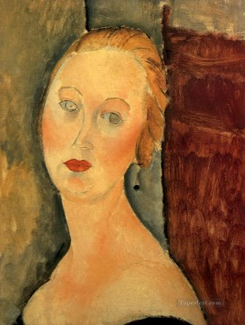 1918 Painting - germaine survage with earrings 1918 Amedeo Modigliani