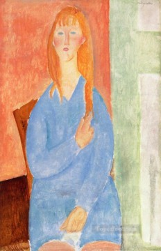 girl in blue 1919 Amedeo Modigliani Oil Paintings