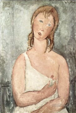 Amedeo Modigliani Painting - girl in the shirt red haired girl 1918 Amedeo Modigliani