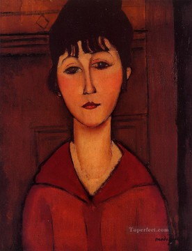 head of a young girl 1916 Amedeo Modigliani Oil Paintings