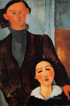 1917 Canvas - jacques and berthe lipchitz 1917 Amedeo Modigliani