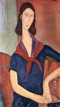 jeanne hebuterne with a scarf 1919 Amedeo Modigliani Oil Paintings