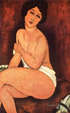 Amedeo Oil Painting - large seated nude Amedeo Modigliani
