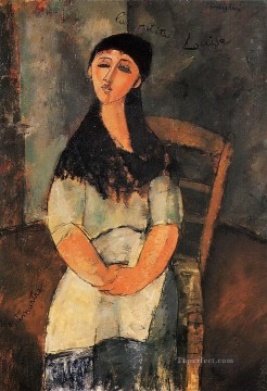 Amedeo Oil Painting - little louise 1915 Amedeo Modigliani