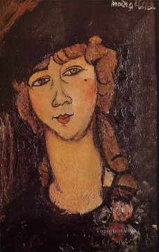 modigliani - lolotte head of a woman in a hat Amedeo Modigliani