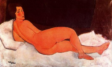 1917 Canvas - lying nude 1917 Amedeo Modigliani