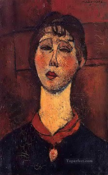 Modigliani Art Painting - madame dorival 1916 Amedeo Modigliani