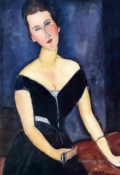Amedeo Modigliani Painting - madame georges van muyden 1917 Amedeo Modigliani