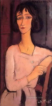 margarita seated 1916 Amedeo Modigliani Oil Paintings
