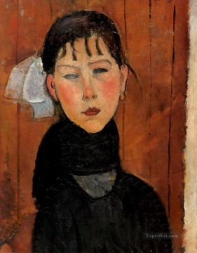Amedeo Oil Painting - marie daughter of the people 1918 Amedeo Modigliani
