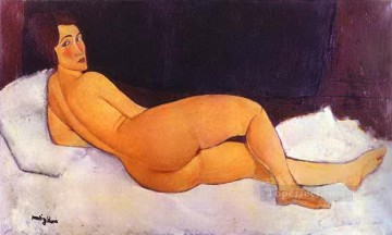 1917 Canvas - nude looking over her right shoulder 1917 Amedeo Modigliani