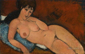 nude on a blue cushion Amedeo Modigliani Oil Paintings