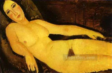 1918 Painting - nude on sofa 1918 Amedeo Modigliani