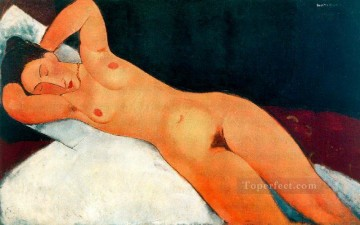 1917 Canvas - nude with necklace 1917 Amedeo Modigliani