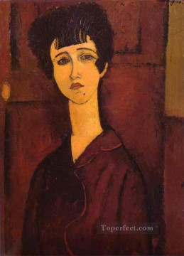 1917 Canvas - portrait of a girl victoria 1917 Amedeo Modigliani