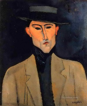 portrait of a man with hat jose pacheco Amedeo Modigliani Oil Paintings