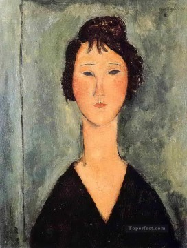 Amedeo Oil Painting - portrait of a woman 1919 Amedeo Modigliani