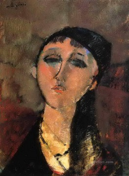portrait of a young girl louise 1915 Amedeo Modigliani Oil Paintings
