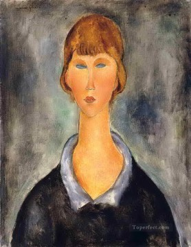 portrait of a young woman 1919 Amedeo Modigliani Oil Paintings
