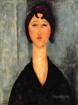 Amedeo Modigliani Painting - portrait of a young woman Amedeo Modigliani