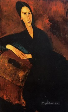 Amedeo Oil Painting - portrait of anna zborowska 1917 Amedeo Modigliani