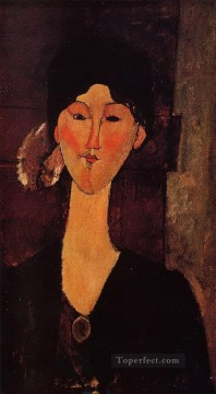 Amedeo Oil Painting - portrait of beatrice hastings 1915 Amedeo Modigliani