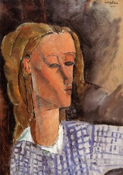 Amedeo Oil Painting - portrait of beatrice hastings 1916 Amedeo Modigliani